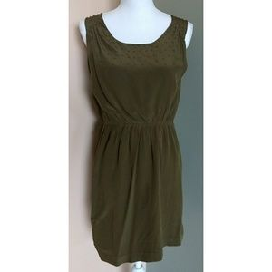 Broadway and Broome Green Silk Dress Size 4